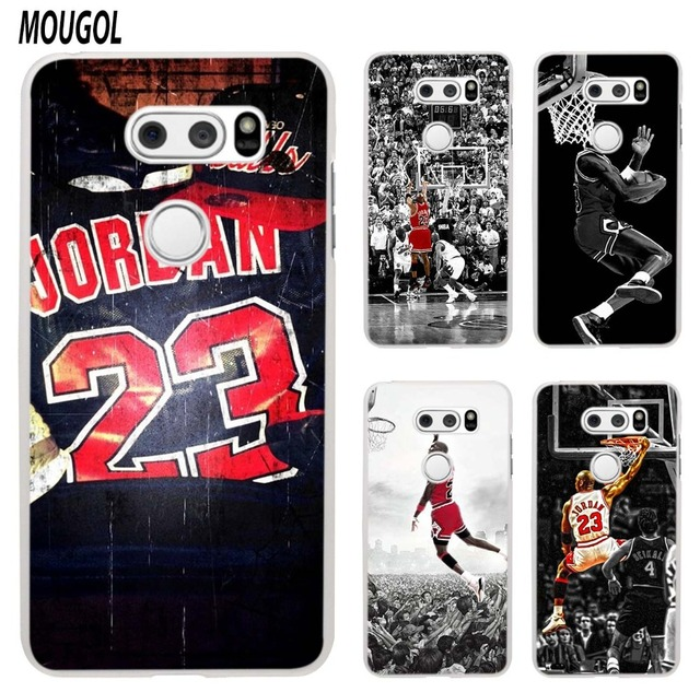 finest selection a5073 135af US $1.93 23% OFF|MOUGOL Basketball God Michael Jordan design transparent  hard case cover for LG Q6 G3 G4 G5 G6 K4 K5 K8 K10 V10 V20 V30-in ...