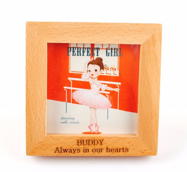 Personaliszd Custom Engraved Wooden Photo Frame 6x4 Natural Solid