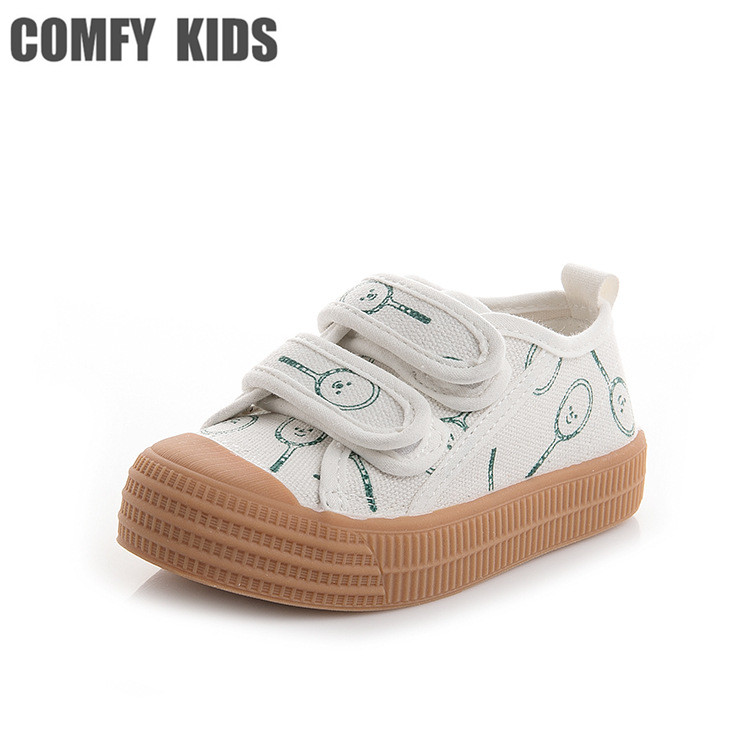 2018 autumn new arrivals high quality canvas shoes size 21-30 boys baby sneakers shoes for girls soft bottom shoes