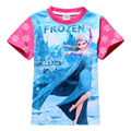 Retail Brand Anna Princesa Girls Camisa de La Manera 2 Colores Tees Anna Y Elsa Manga Corta Niños T-shirts Envío gratuito B122