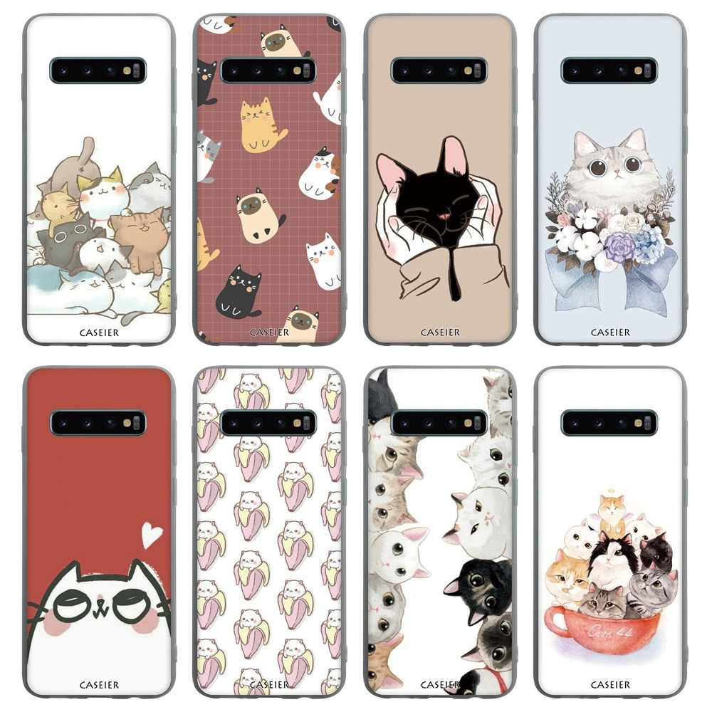 CASEIER Matte Phone Case For Samsung S9 S8 S10 Phone Shell Case For Samsung Galaxy A7 A3 A5 A6 A7 2018 2017 2016 Covers Fundas