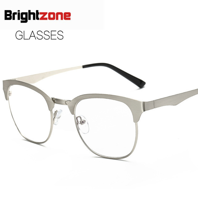 2017  New Pattern Plain Glass Mirror Metal Round Box Restore Ancient Ways Spectacle Frame Literature Youth Glasses