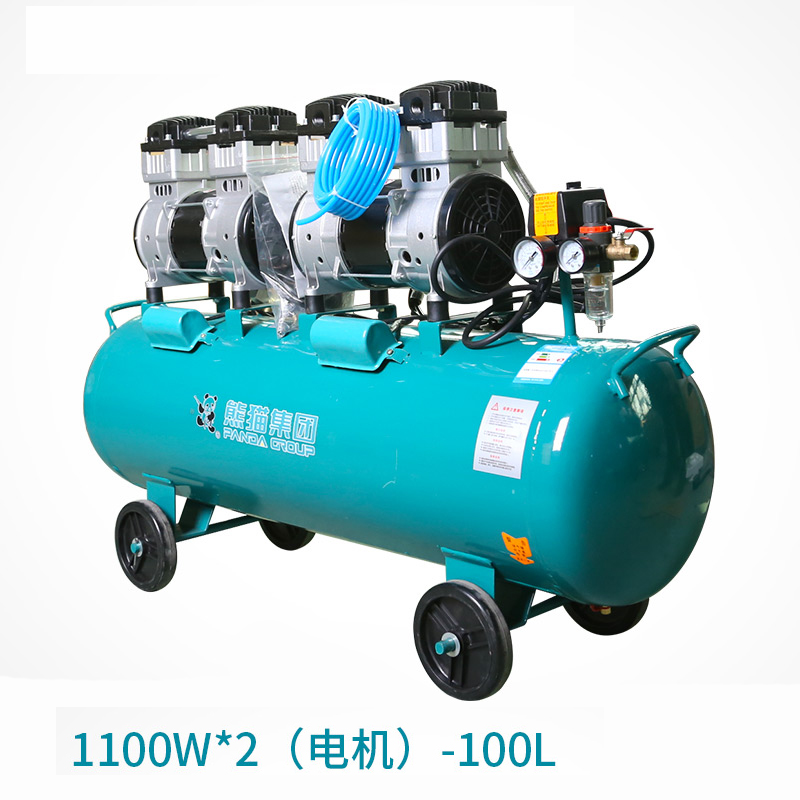 Oil - free Air Compressor High - pressure Gas Pump Spray Woodworking Air compressor small pump 1000W100L tdoubeauty dental greeloy silent oil free air compressor ga 62 free shipping