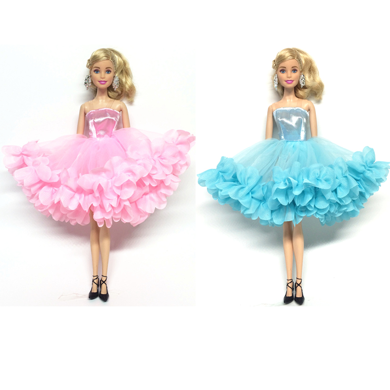 NK 2018 Newest Doll Dress Beautiful Multi-layer Dress Top Fashion Party Outfit  For Barbie Doll For 1/6 BJD Dolls Accessories