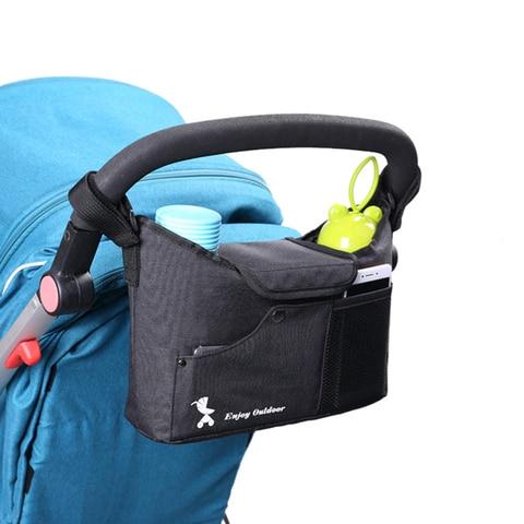 Universal Baby Stroller Bag Black Stroller Organizer Travel Diaper Bags Baby Carriage Pram Buggy Cart Bottle Bag Accessories  Pakistan