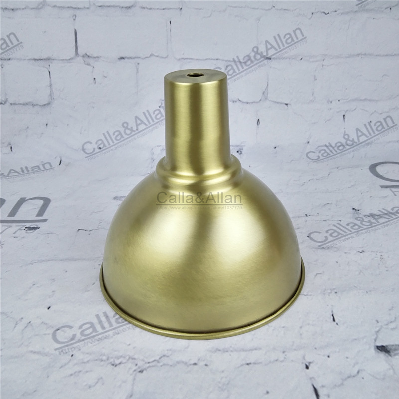 Free ship M10 D160mmX150mm brass material light cover copper cup shade quality E27 lamp shade cover lighting brass shade cone d200mm brass cone shade quality e14 pendant light edison led vintage copper shade lighting fixture brass pendant lamp for home