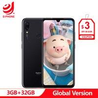 Original Global Version xiaomi Redmi Note 7 3GB 32GB cellphone Snapdragon 660 Octa Core 6.3 19.5:9 Full Screen 48MP Dual Camera