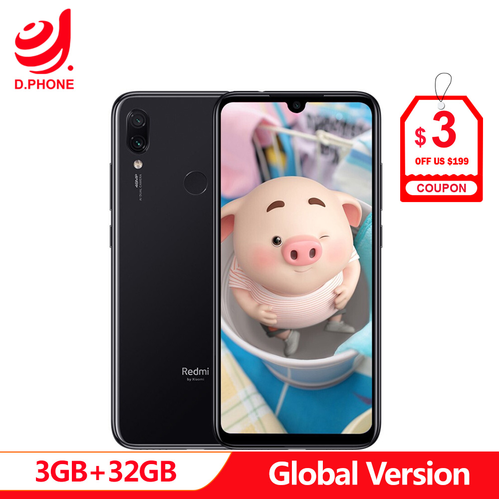 Version originale globale xiaomi Redmi Note 7 3 GB 32 GB téléphone portable Snapdragon 660 Octa Core 6.3