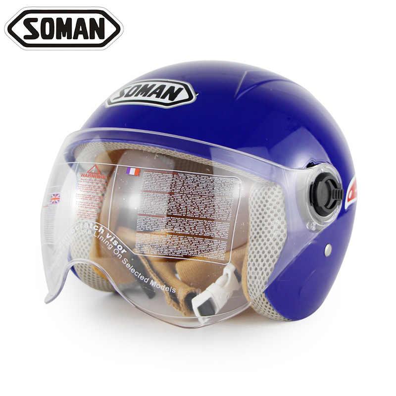 Soman От 5 до 14 лет детский шлем с миньонами детский мотоцикл для мальчиков и девочек защита головы мотоциклетная Защитная Кепка Мультяшные шлемы