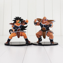 2 pçs/lote 15 cm Dragon Ball Z Figura Toy Anime DBZ Raditz Nappa Irmão Saiyan Goku Scultures Big Zokei Collectible modelo Boneca