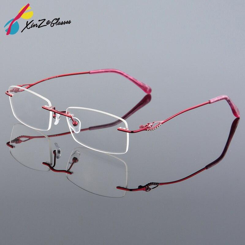 2017 Maloobchod 2 barvy módní dámské brýle bez rámečku brýle módní paměť titanové brýle rámy předpis optické rámečky