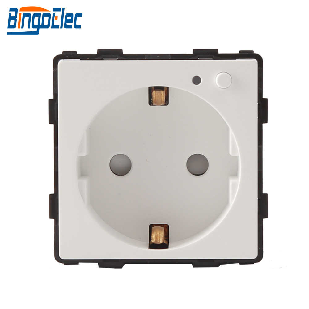 Bingoelec Wifi Smart Socket Plug Basic Wireless Remote Germany Outlet EU  Standard Mobile Phone App Control Wall Socket