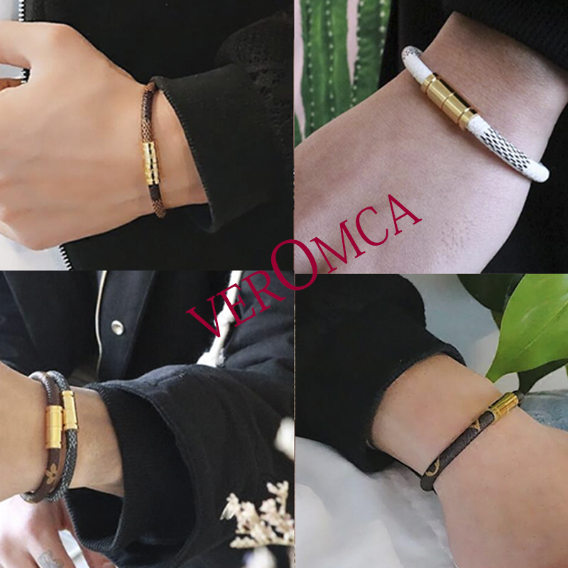 leather bracelet  VEROMCA Leather-based Bracelet Stainless Metal Bracelets Males Jewellery Excessive High quality Charms Bracelets jewellery Magnetic Bracelet HTB1l9 SFf5TBuNjSspcq6znGFXaR