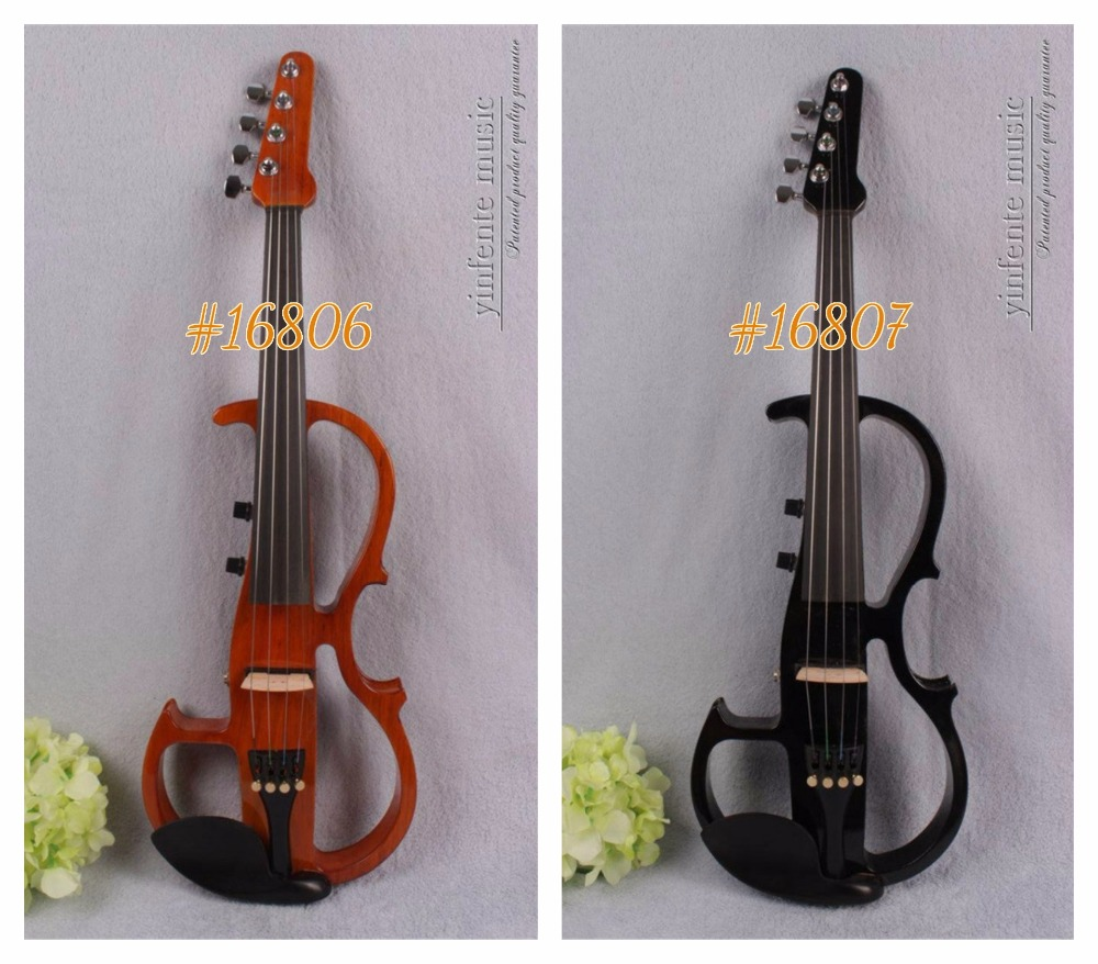 #16806# New 4 string 4/4 Electric violin Solid wood hand add fret electric violin Guitar neck violin 4 4 violin neck maple wood hand carve sheep head master yinfente 10 string