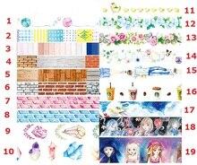 19 designs girls,boys,flower,wall ,wood grain washi paper tape decorative adhesive tapes scrapbooking tools DIY masking sticker