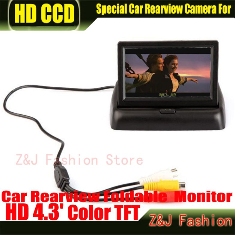 """Image 3 - Hot! 4.3"""" TFT LCD Color Monitor car dashboard safety monitoring of Auto Reversing Parking Foldable Camera Rearview Monitor-in Vehicle Camera from Automobiles & Motorcycles on AliExpress"""