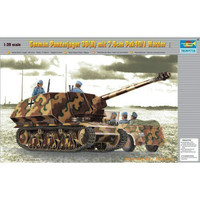 Oyuncaklar ve Hobi Ürünleri'ten Modeli Yapı Setleri'de Trompetçi 00354 1/35 Alman Panzerjager 39 (H) w/PAK 40
