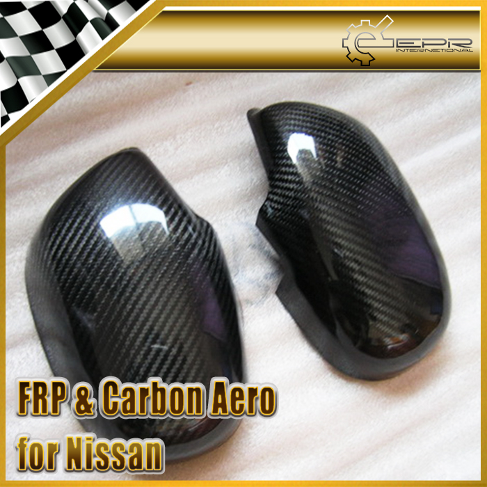 EPR Car Styling For Nissan Skyline R33 Carbon Fiber Mirror Cover Fiber Side Accessories Trim