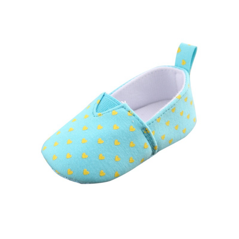 Anti-Slip Shoes Baby Girls Shoes Infant Toddler Crib Kids First Walkers Cotton Dot Soft Soled Heart Printed Sneakers