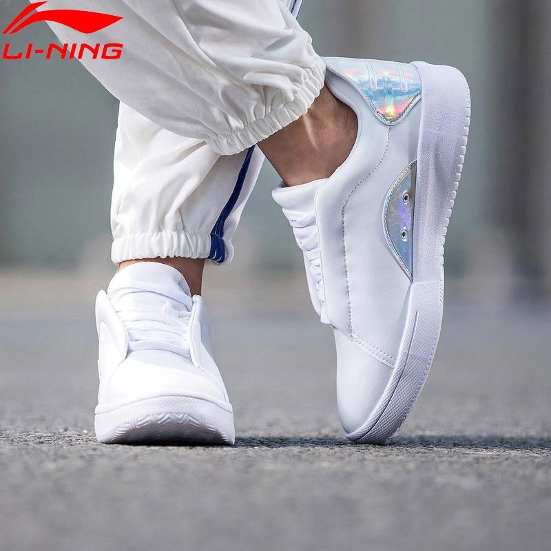 Li-ning femmes Sport vie chaussures de marche respirant loisirs blanc baskets classique doublure chaussures de Sport GLKN026 YXB180
