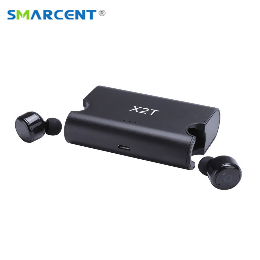 X2T TWS mini wireless bluetooth earphone noise canceling headphone In-ear bluetooth headset with Charge box for iphone 8/android wireless headphones bluetooth earphone suitable for iphone samsung bluetooth headset 4 2 tws mini microphone