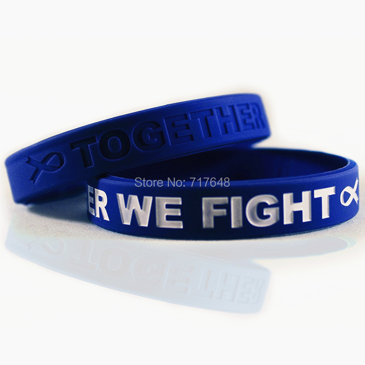300pcs Awareness Colon Cancer Dark Blue Wristband Silicone Bracelets Free Shipping By Fedex In Cuff From Jewelry Accessories On Aliexpress