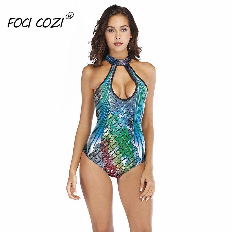 female swimsuit mermaid bodysuit animal print bodycon bodysuits for women 2019 backless bodysuit fitness summer playsuit women
