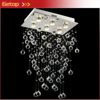 Modern Best Price LED Modern Lustre Crystal Light Foyer Dining room Droplight Pandent Lamp For The Stairs Height800mm