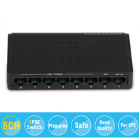 6 Ports S POE Switch 2 Ports DC Desktop Fast Ethernet Switch Network IP Cameras Powered