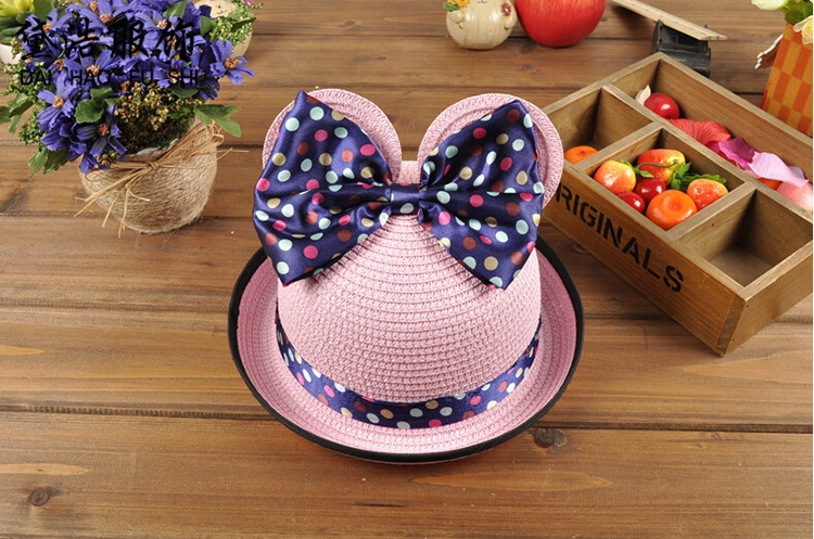 e0f00ea80d0d8 Spring Summer Lovely Straw Hat Formal Hat Baby Summer Hat Modeling Basin  Cap Will Bow Children Hats-in Baseball Caps from Apparel Accessories on ...
