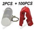100 pçs/lote EAS anti-roubo de segurança parar de bloqueio para exibição de varejo stem & peg gancho de parada lock + 2 pcs chave desacoplador magnética frete grátis
