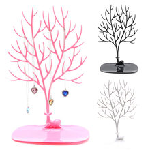Jewelry Necklace Ring Earring Tree Deer Stand Display Organizer Holder Show Rack(China)