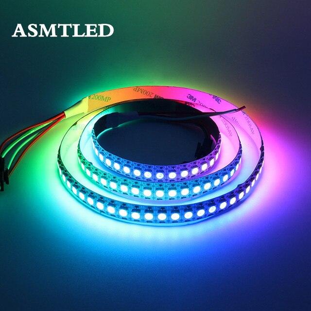 DC5V WS2812B 30/60/144 leds/m Smartled indywidualnego adresowania pikseli RGB led strip light Black/biały PCB IC WS2812 pikseli taśmy