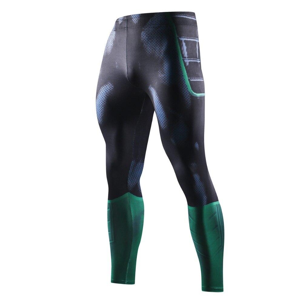 Skinny Sweatpants For Men Compression Pants Men Fashion Leggings Men Jogger Men 3D Fitness Pants Green Lantern ElasticTrousers