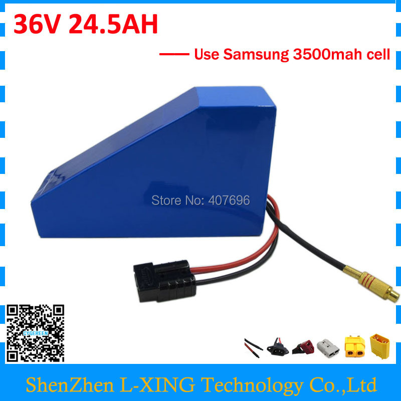 EU US no tax 36V 24.5AH Triangle lithium battery 36 V battery for electric bicycle use Samsung 3500mah cell 50A BMS 2A Charger eu us no tax 2000w 48v 30ah triangle battery 48v lithium battery 48v e bike battery use for samsung cell 50a bms 5a charger