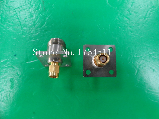 [BELLA] SUHNER N/SMA DC-18GHz RF Flange Coaxial Adapter  --2PCS/LOT