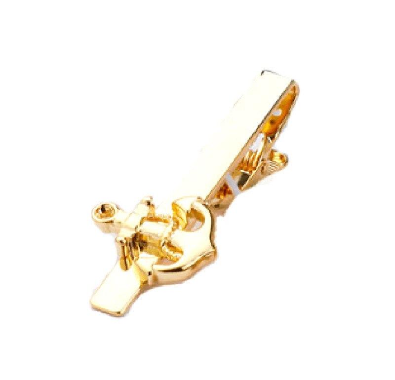 Мода стиль золото лодка якорь заколка для галстука бизнес костюм Мужские Свадебное Платье Аксессуар зажим для галстука