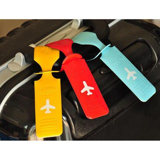 Voyage Rectangle forme étiquette à bagage couverture créative valise ID porte-adresse bagages étiquettes dembarquement accessoires de voyage