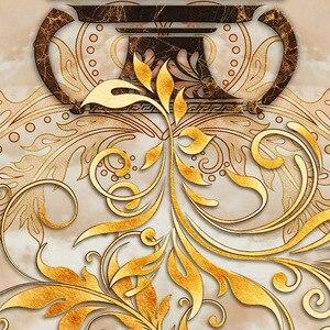 Image 5 - מותאם אישית דביק רצפת קיר קלאסי אירופאי סגנון אגרטל רצפת השיש אריח קיר נייר מדבקת סלון Papel דה פארדה 3D