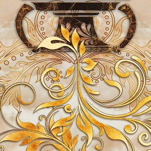 Image 5 - Custom Self adhesive Floor Mural Classic European Style Vase Marble Floor Tile Wall Paper Sticker Living Room Papel De Parede 3D