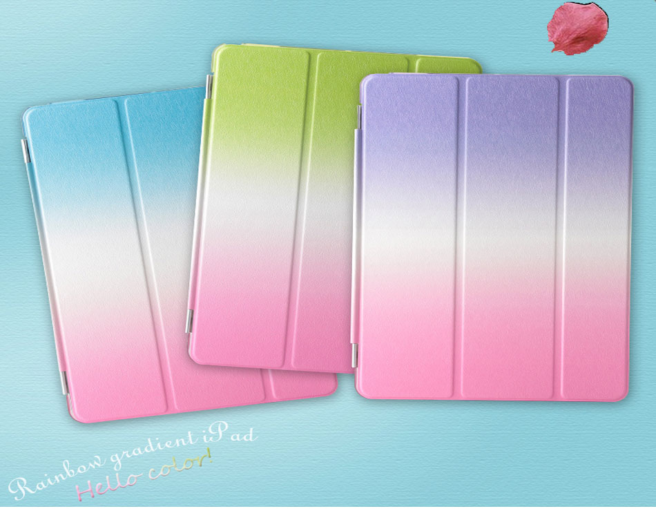 Rainbow Tablets Case For iPad Pro 10.5 iPad Air 3 10.5 2019 Color Pattern Smart Tri-folded Tablet Cover For iPad Pro 10.5 Cases-1