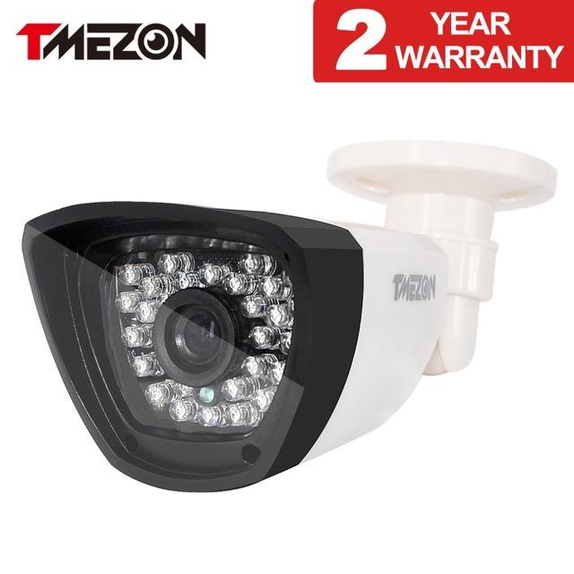 Tmezon hd 800tvl 900tvl 1200tvl câmera de segurança de vigilância cctv bala impermeável ao ar livre ir night vision 30led até 85ft