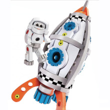 Three-dimensional Mosaic Spacecraft Robot Handmade DIY Childrens Early Education EVA Toy Manufacturer Wholesale