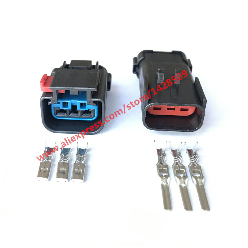 20 Sets 54200308 54200312 Headlight Wiring Connector Pigtail FCI Apex 2 8mm Waterproof Automotive Plugs 3