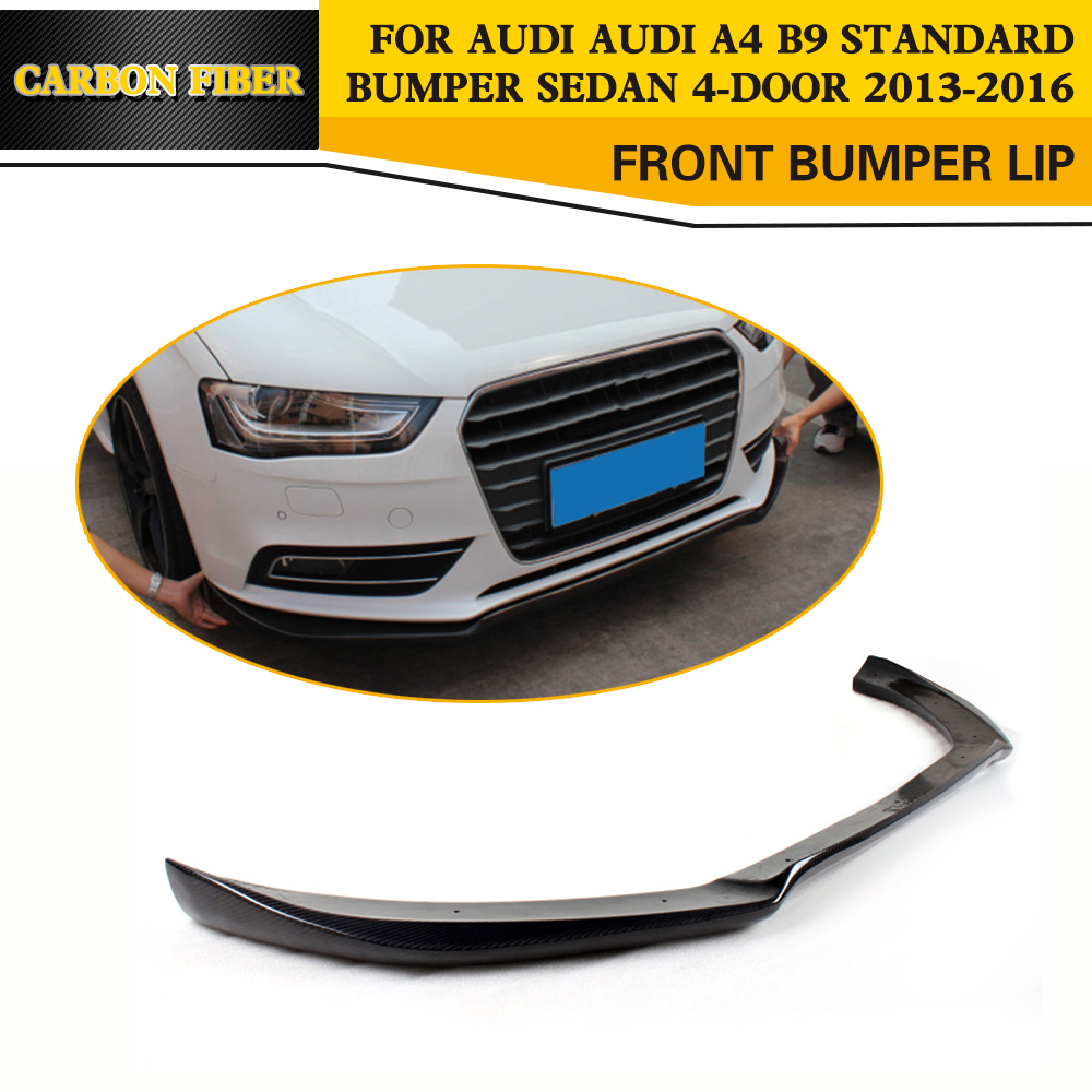 Carbon fiber car front bumper lip chin splitter for audi a4 b9 sedan 4 door