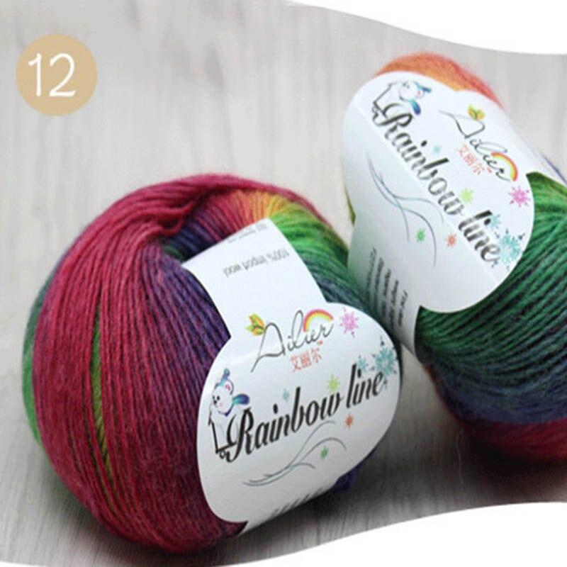 1 Pz Colori Assortiti Lane E Filati Matasse 20 Colori Morbida Lana Crochet 50g Di Lavoro A Maglia Lane E Filati Del Mestiere Di Vendita Calda Rinfresco