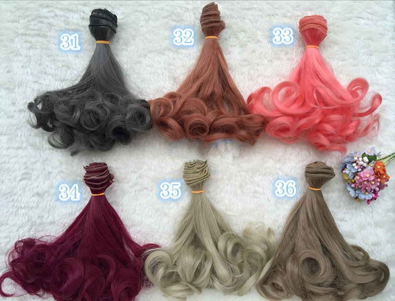 15cm doll wigs doll hairs suitable for 1/3 1/4 1/6 1/12 BJD SD chole doll Wigs High-temperature wire fiber Hair single Fapai