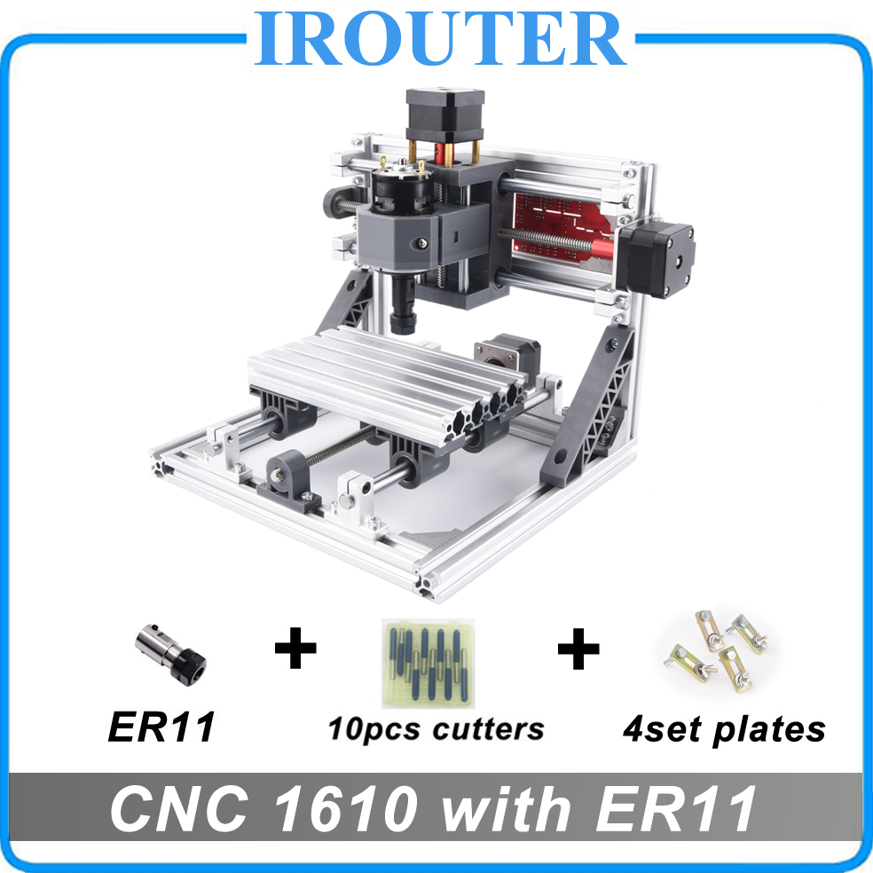 CNC 1610 with ER11 mini diy cnc laser engraving machine Pcb Milling Machine Wood Carving router