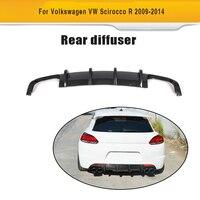 Carbon Fiber Car Rear Bumper Lip Spoiler Diffuser For Volkswagen VW Scirocco R R20 Bumper 2009 2014 Car Stiker Spoiler