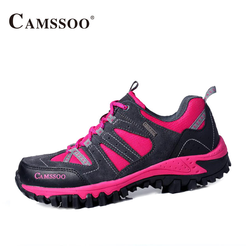 Camssoo Hiking Shoes Women Breathable Outdoor Sport Sneakers Light Female Shoes Size Eu 36-40 AA40346 peak sport men outdoor bas basketball shoes medium cut breathable comfortable revolve tech sneakers athletic training boots